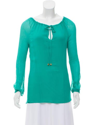 Tory Burch Silk Long Sleeve Top None