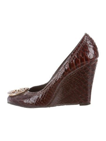 Tory Burch Embossed Logo Wedges None