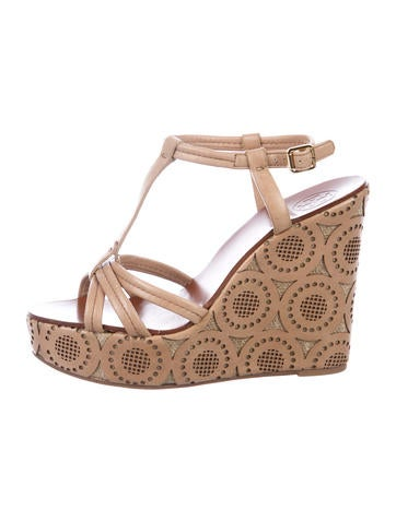 f58b660d15bbb Tory Burch Printed Espadrille Wedges - Shoes - WTO138377
