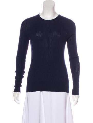 Tory Burch Wool Rib Knit Top None