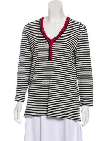 Tory Burch Striped Knit Sweater None