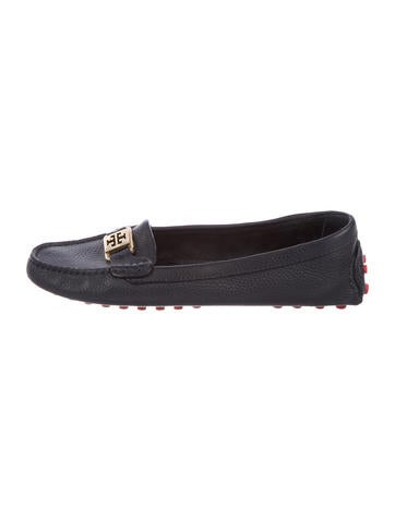 Tory Burch Logo Pebbled Leather Loafers collections for sale 6jGgSM