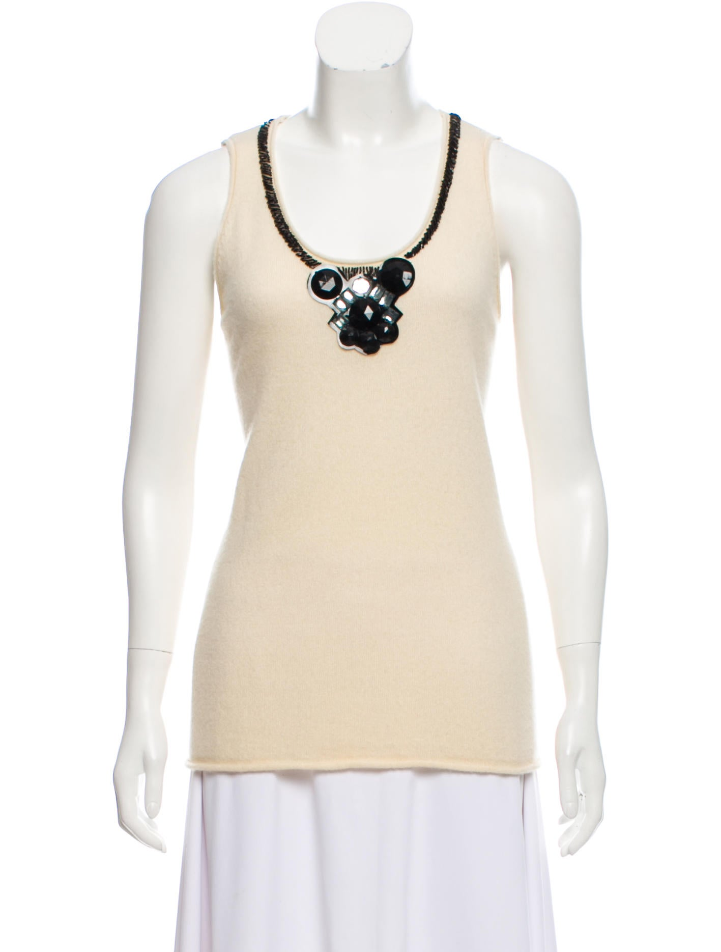 Tory Burch Cashmere Embellished Top Clothing Wto137195 The