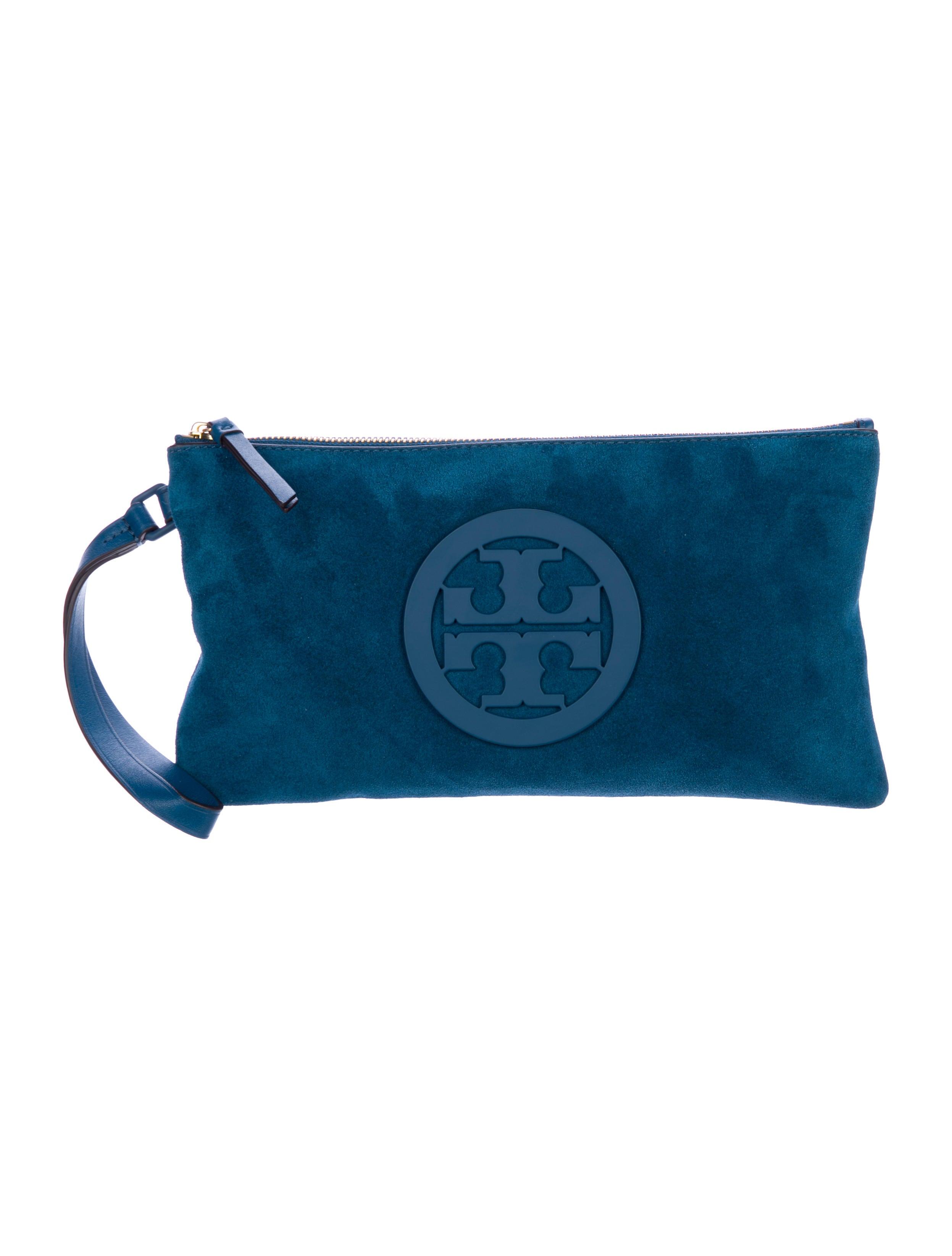 5901092aa73 Tory Burch Charlie Leather   Suede Clutch - Handbags - WTO141967 ...