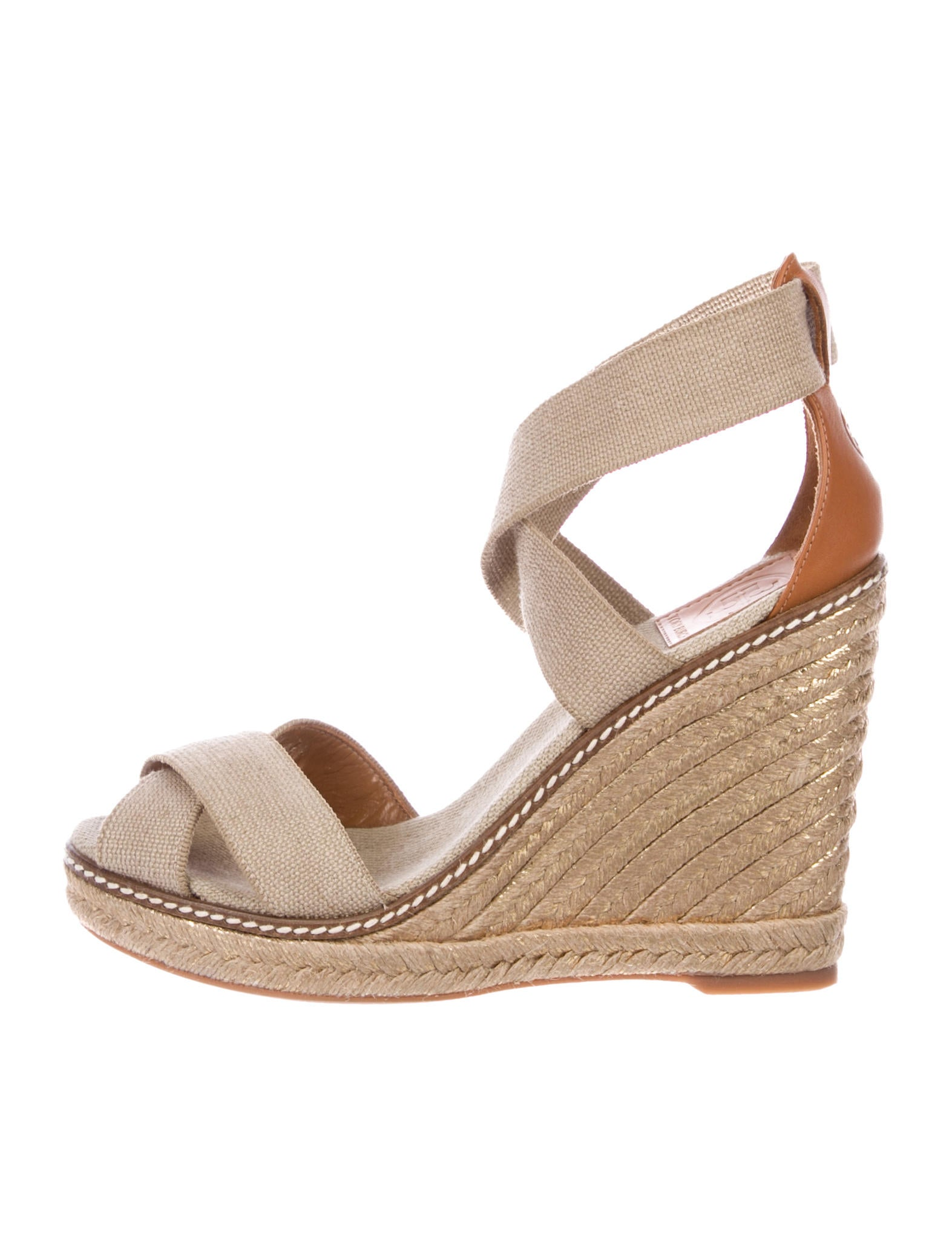 52ec7826f800b Tory Burch Ankle Strap Espadrille Wedges - Shoes - WTO145401