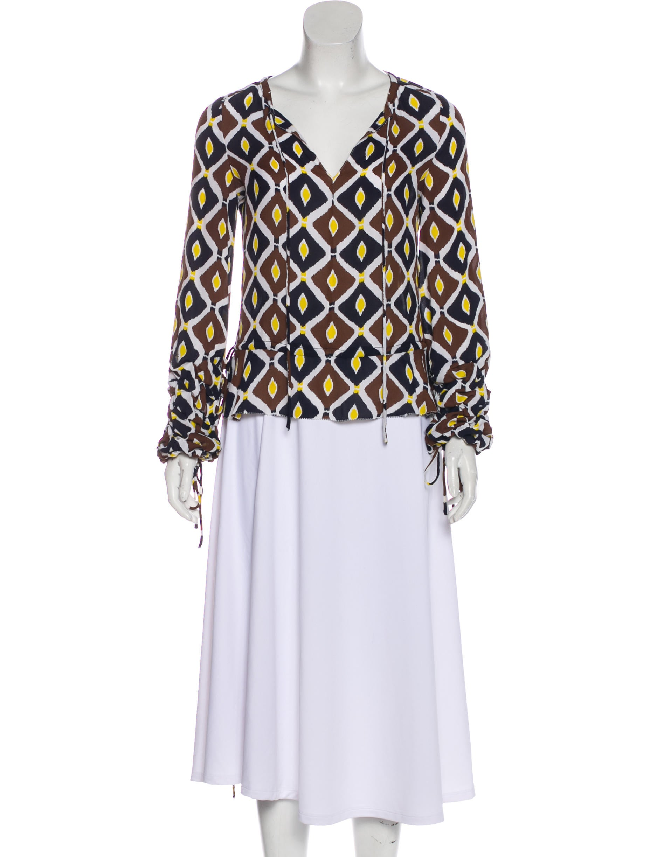 fa36ec90c7b1d0 Tory Burch Silk Long Sleeve Blouse - Clothing - WTO147779