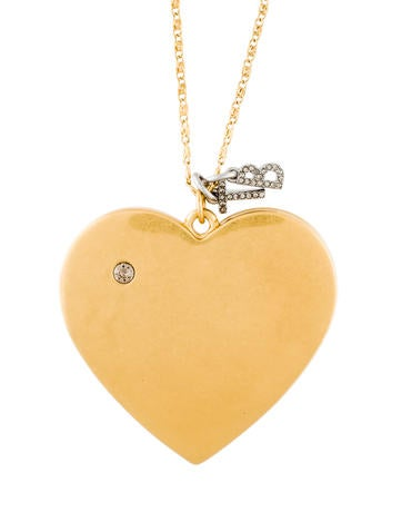 Tory burch heart locket pendant necklace necklaces wto148436 heart locket pendant necklace aloadofball Image collections
