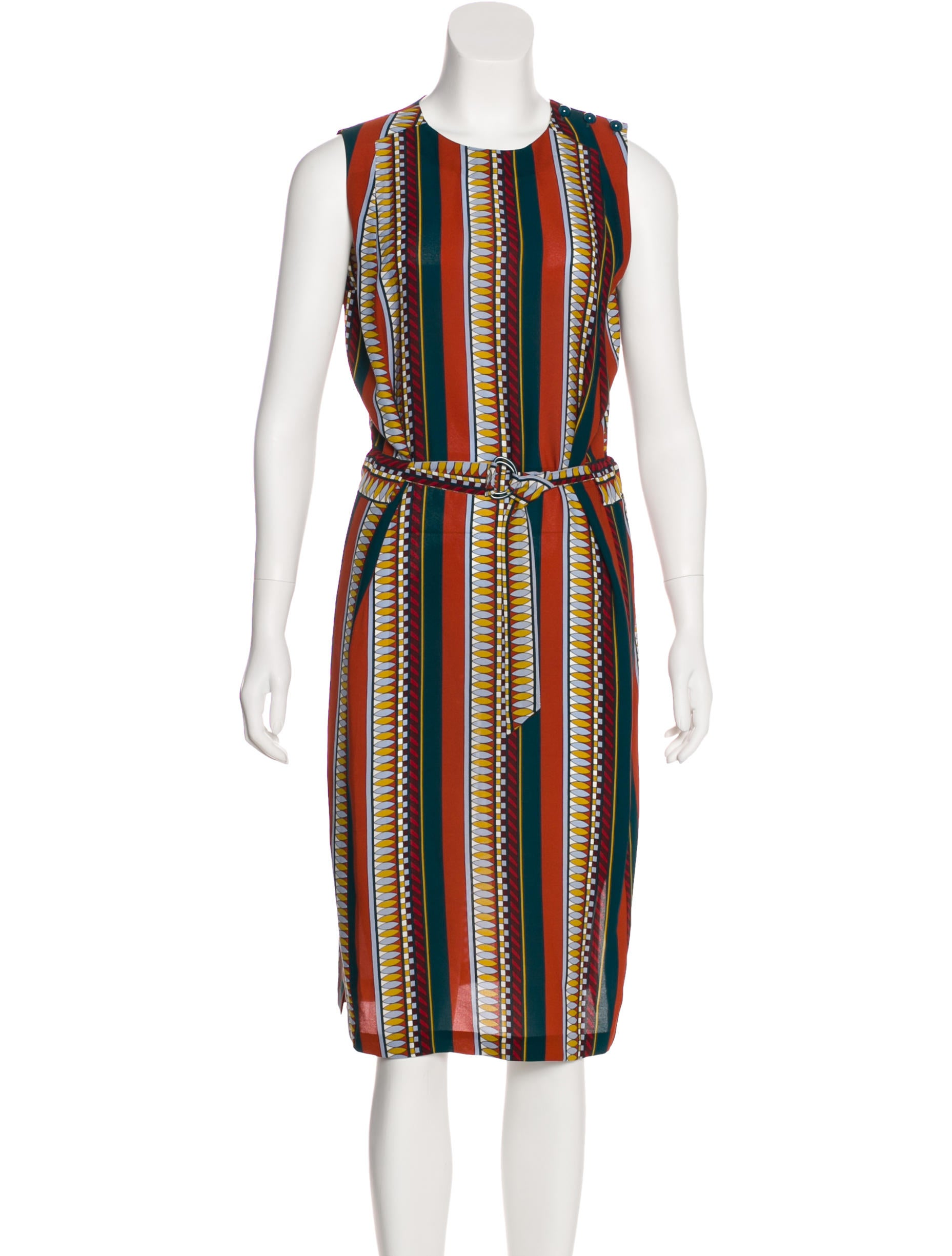 fa279f51ceb Tory Burch Silk Midi Dress - Clothing - WTO153539