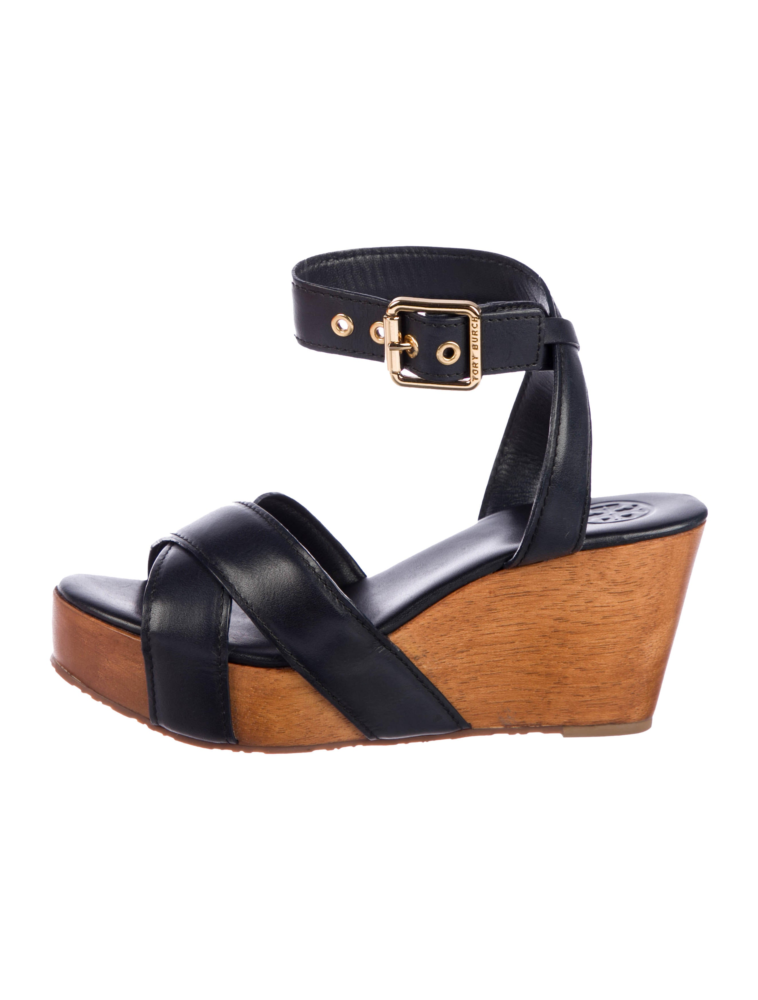 b593418295d Tory Burch Almita Leather Wedges w  Tags - Shoes - WTO156638