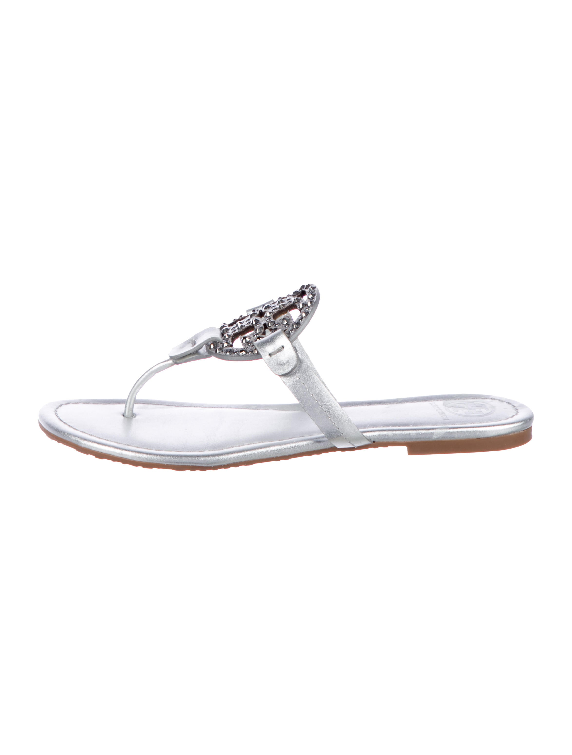 c4c77d915d2258 Tory Burch Miller Embellished Sandals - Shoes - WTO171662