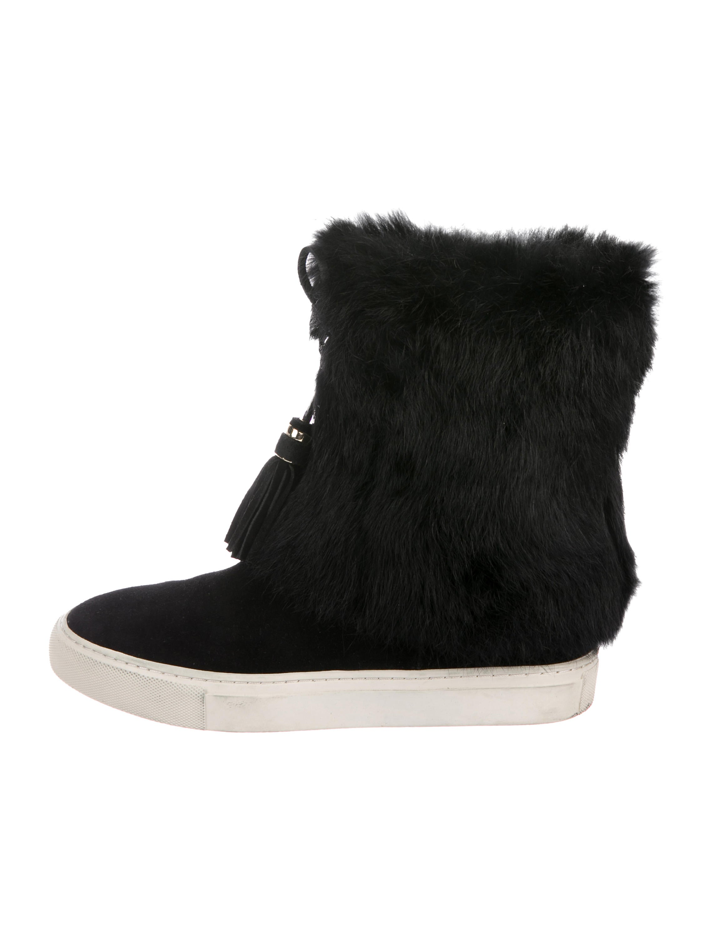c0ae808fcafd Tory Burch Anjelica Fur-Trimmed Sneaker Boots - Shoes - WTO175230 ...