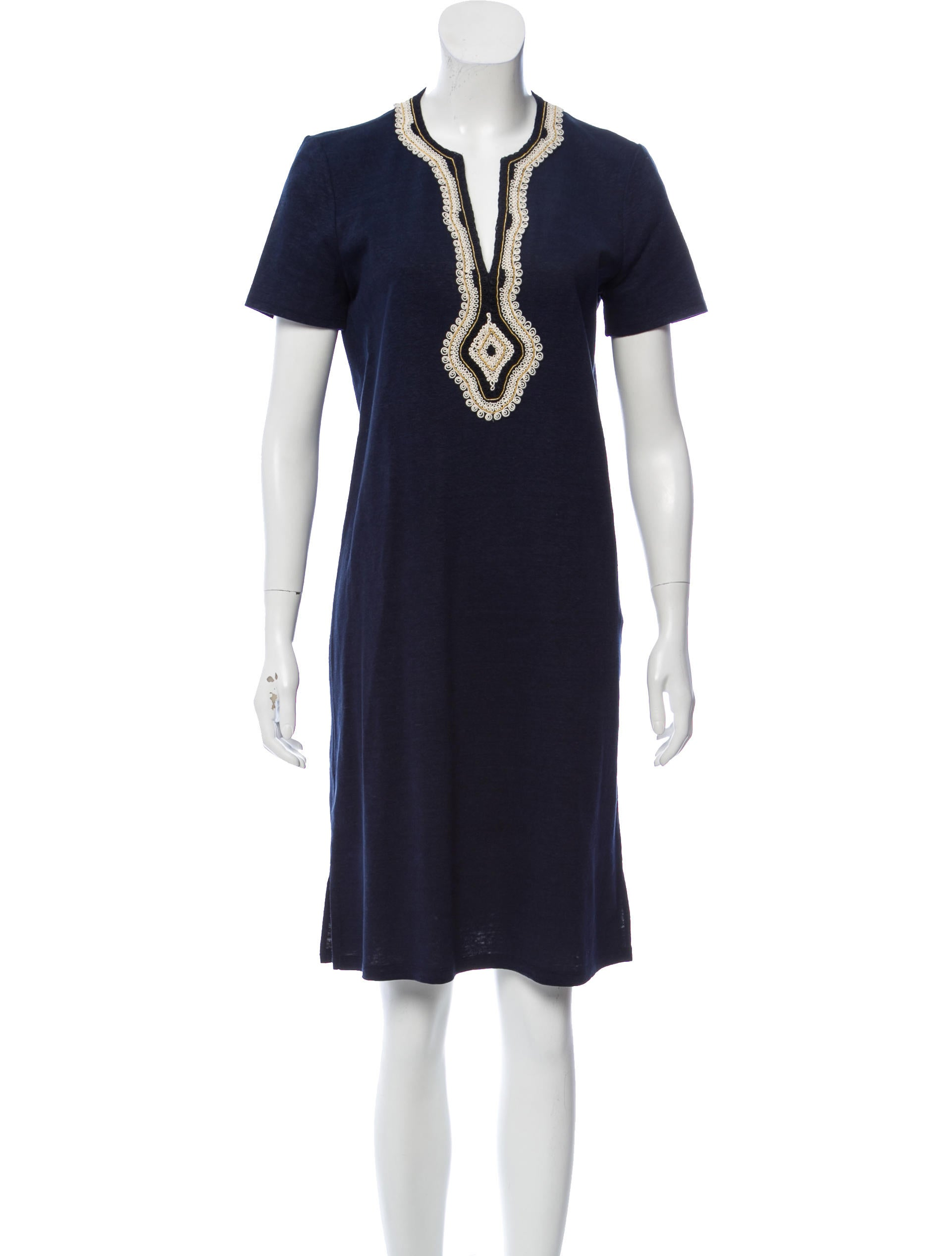 f7e64068788 Tory Burch Linen Knee-Length Dress - Clothing - WTO177273