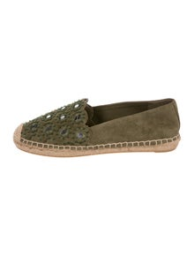 a1f3aff55 Tory Burch. Suede Embellished Espadrilles