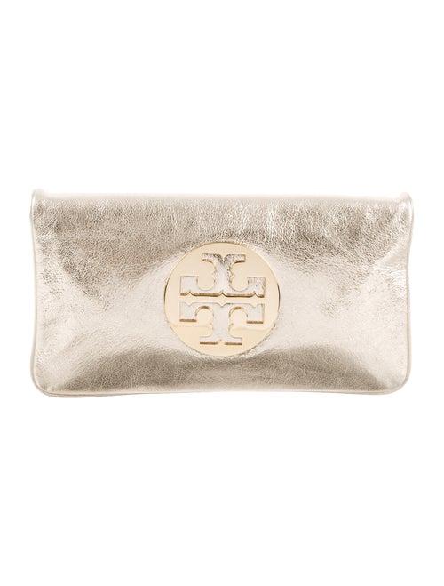 1a8a6a08971 Tory Burch Metallic Leather Reva Clutch - Handbags - WTO179802