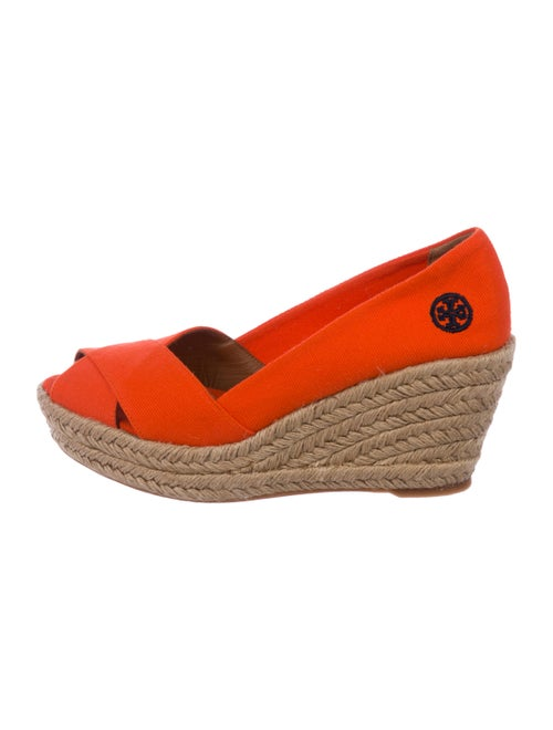 142187464a6fb Tory Burch Canvas Espadrille Wedge Pumps - Shoes - WTO181100