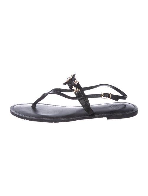 ce0cb9c8e9587e Tory Burch Leather Logo Sandals - Shoes - WTO181121