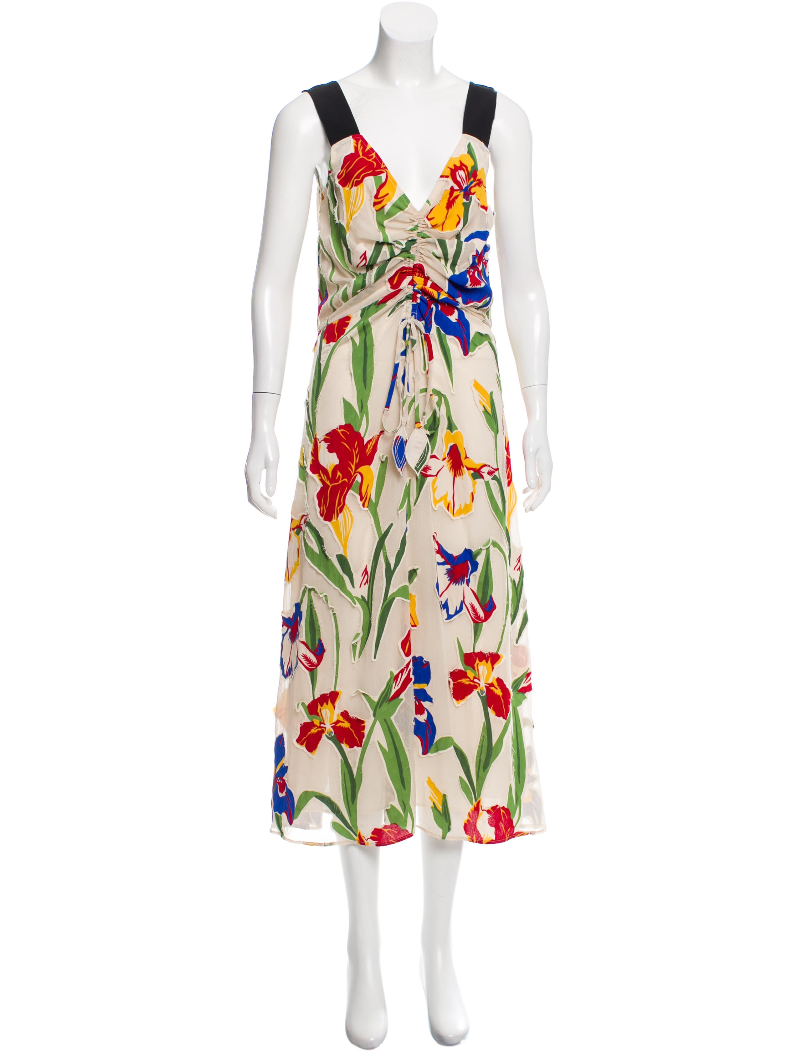 e1307a7a36 Tory Burch Clarissa Silk-Trimmed Dress w/ Tags - Clothing - WTO183038 | The  RealReal