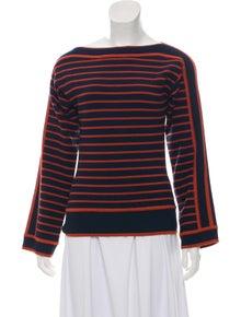6ce150c172 Tory Burch. Striped Long Sleeve Top