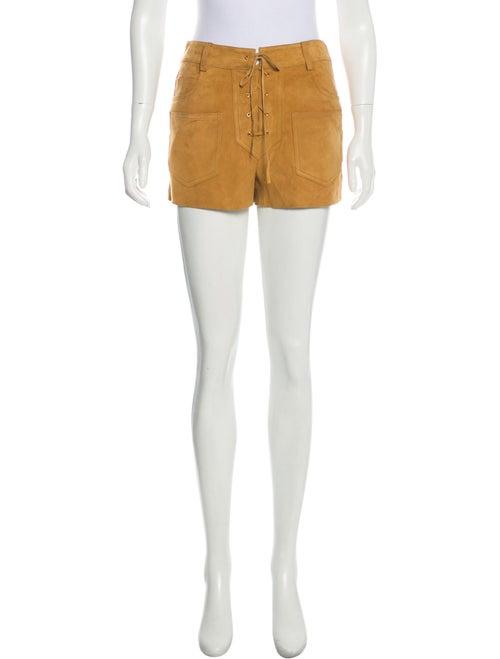 Tory Burch Suede Mid-Rise Shorts w/ Tags
