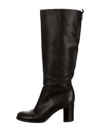 Leather Knee-High Boots image 1
