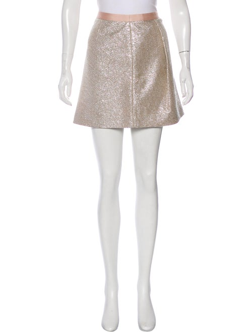 Tory Burch Mini Skirt Metallic