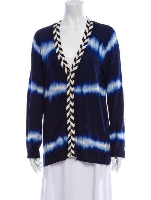 Tory Burch Merino Wool Tie-Dye Print Sweater Wool