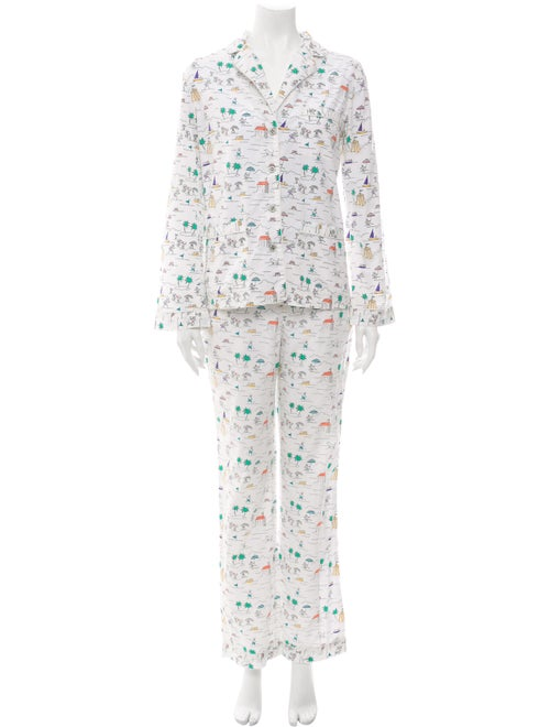 Tory Burch Printed Pajama Set White