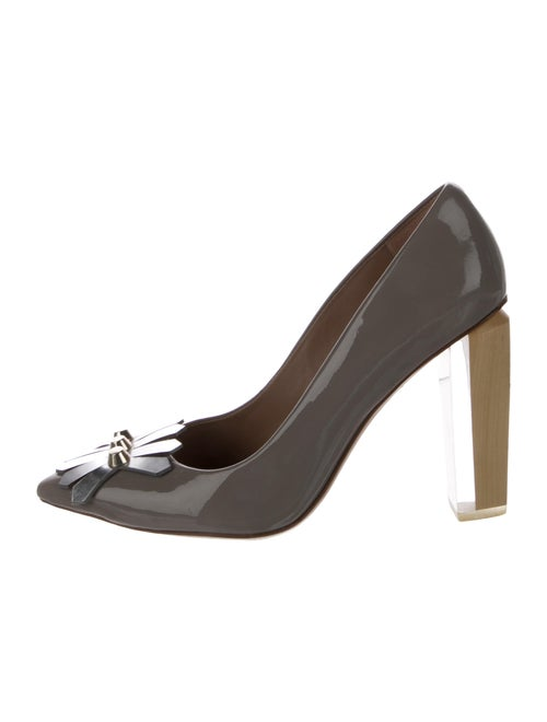 Tory Burch Studded Patent Leather Pumps Patent Lea