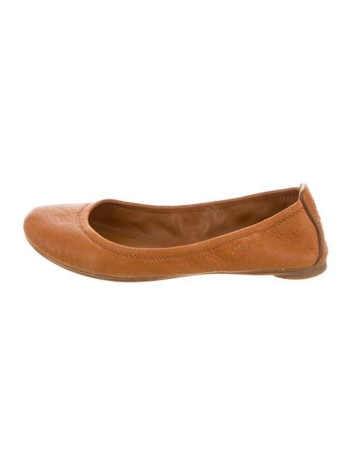 Tory Burch Logo Ballet Flats Leather Ballet Flats