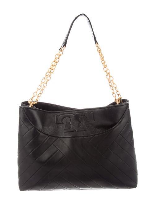 Tory Burch Leather Shoulder Bag Black