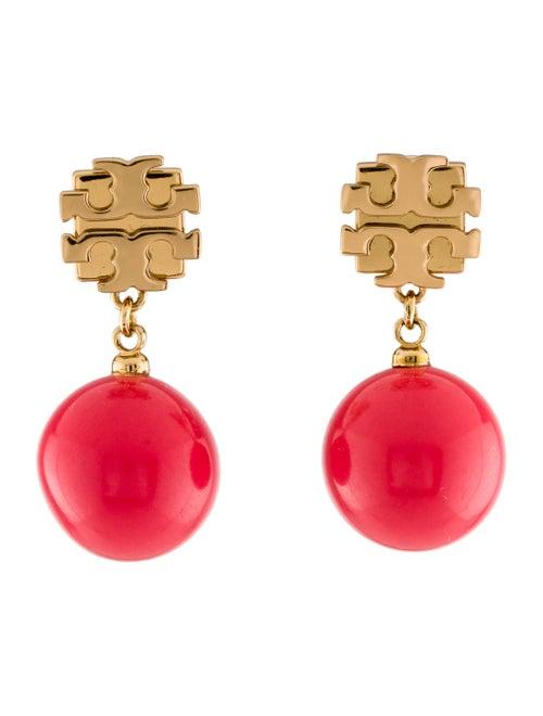 Tory Burch Resin Drop Earrings Gold