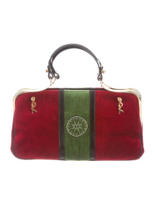 Tory Burch Velvet Handle Bag Red