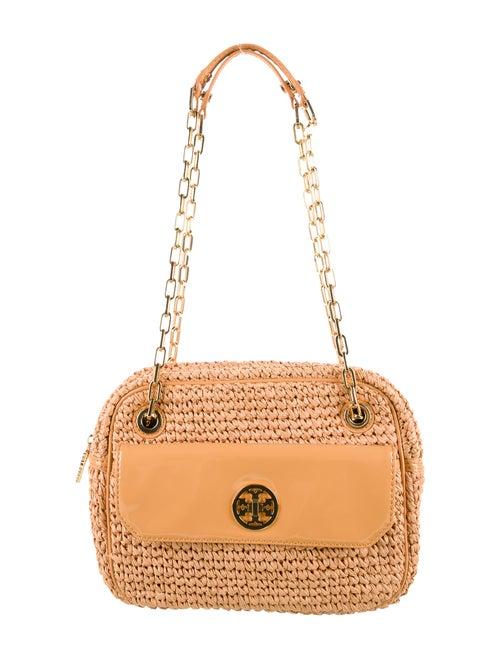 Tory Burch Straw Shoulder Bag gold