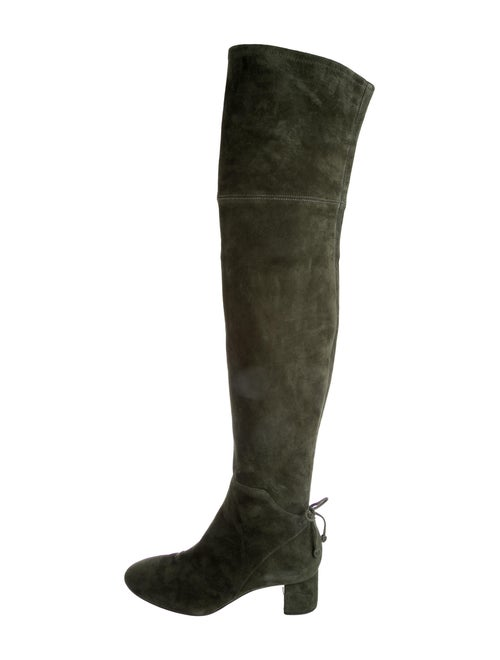 Tory Burch Laila 45 Suede Boots Green