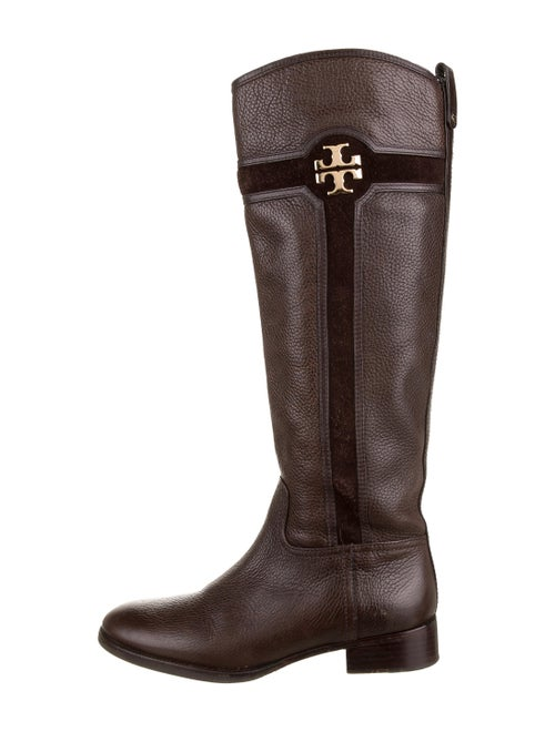 Tory Burch Leather Knee-High Boots Brown