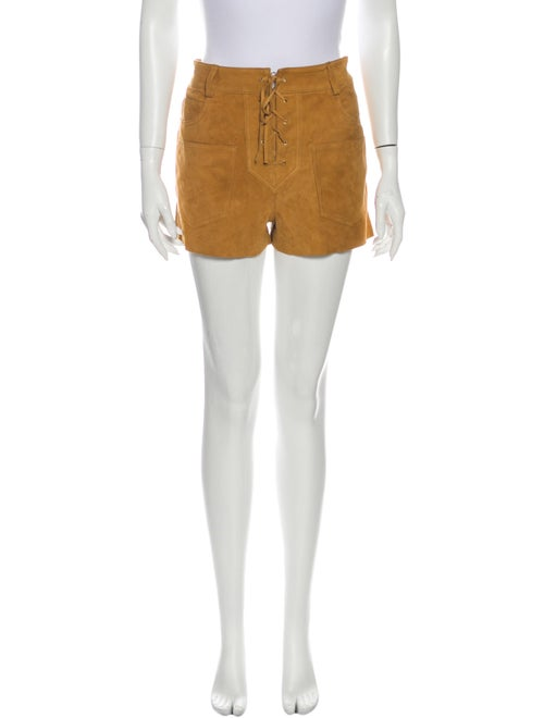 Tory Burch Leather Mini Shorts