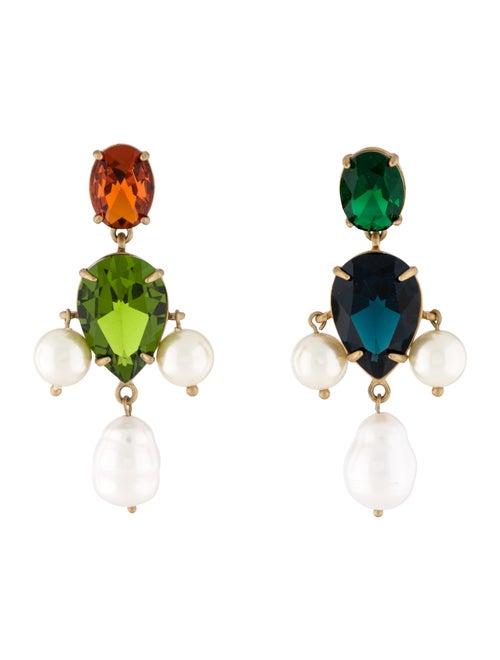 Tory Burch Pearl, Faux Pearl & Crystal Drop Earrin
