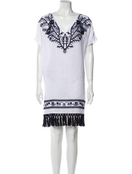 Tory Burch Linen Mini Dress White