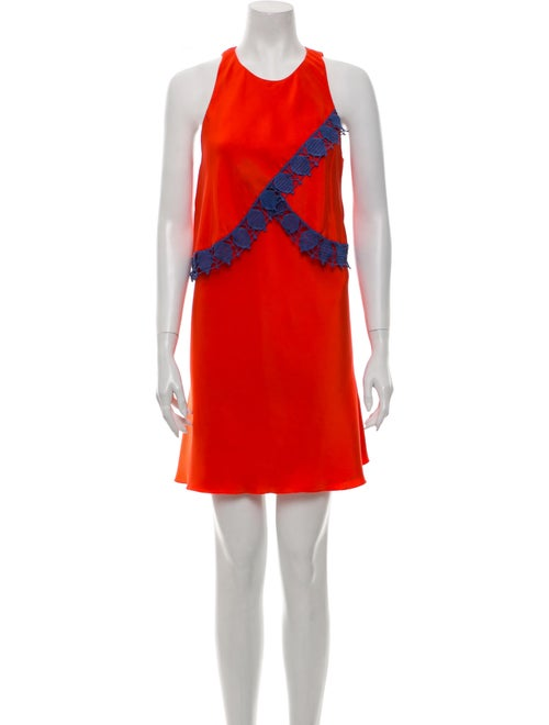 Tory Burch Silk Mini Dress Orange