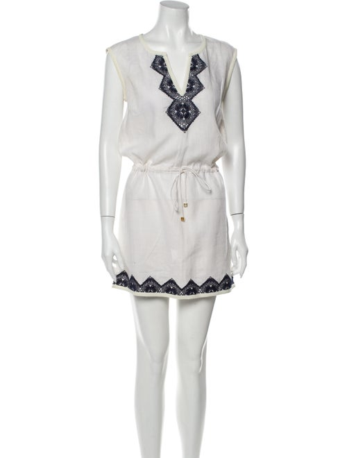 Tory Burch Linen Mini Dress White - image 1