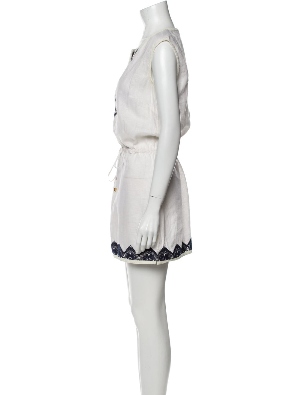 Tory Burch Linen Mini Dress White - image 2