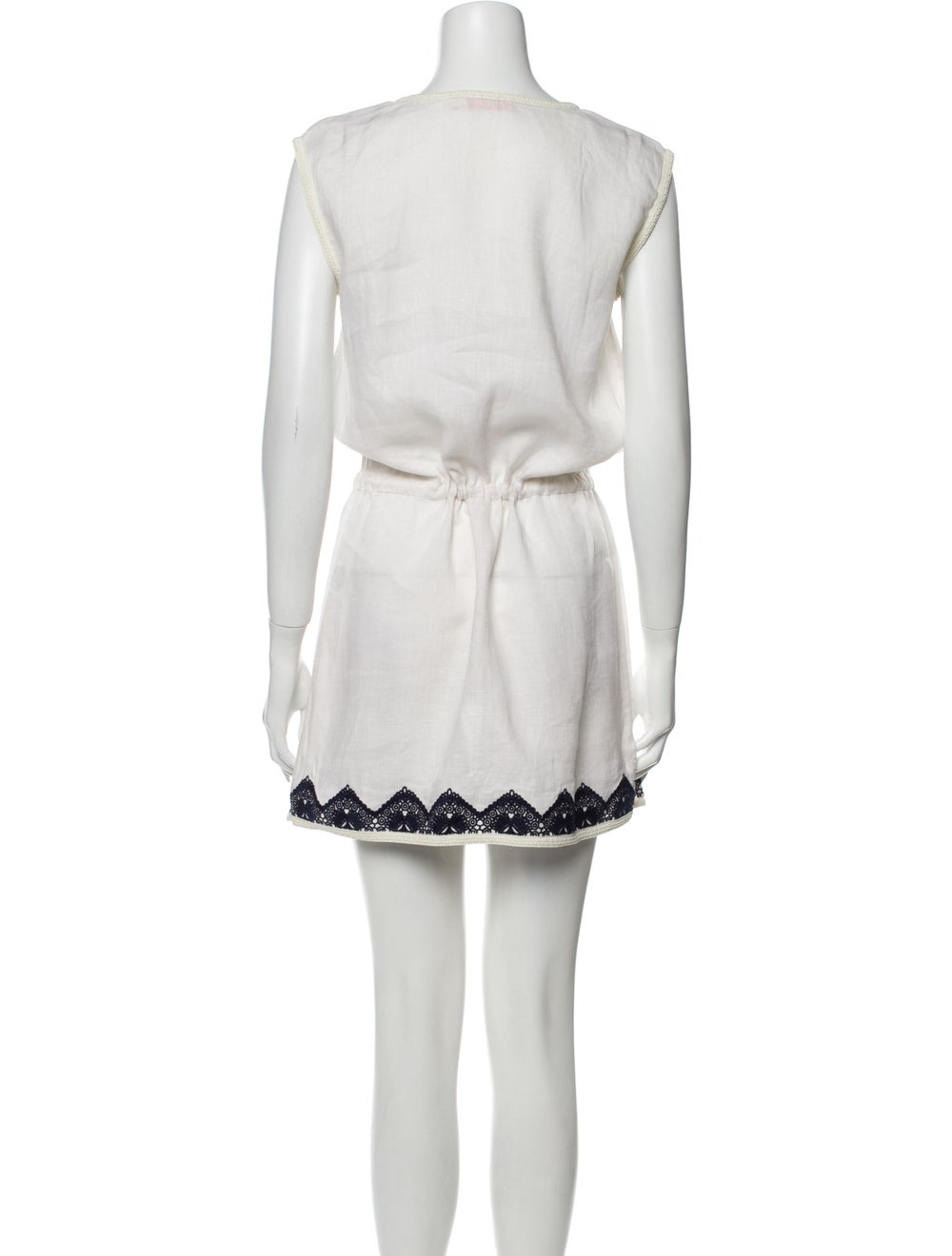 Tory Burch Linen Mini Dress White - image 3