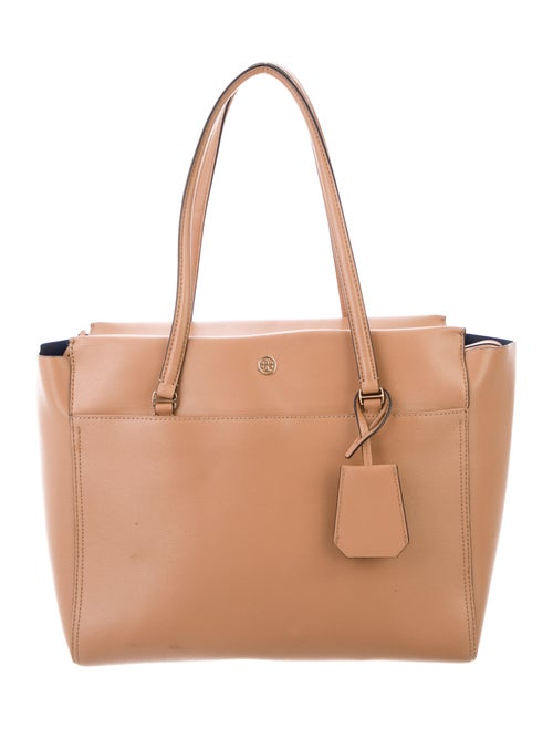 Tory Burch Leather Tote Bag Gold
