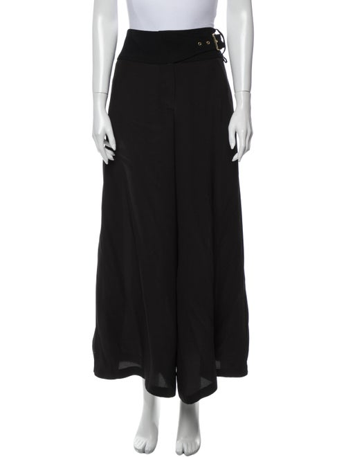Tory Burch Silk Wide Leg Pants Black