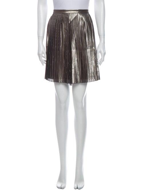 Tory Burch Silk Mini Skirt Metallic