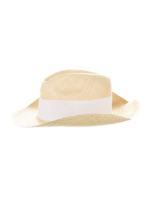 Tory Burch Straw Wide Brim Hat Tan