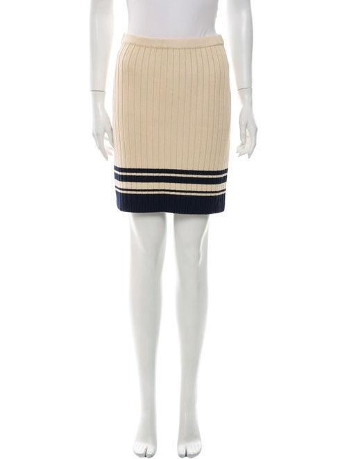 Tory Burch Striped Mini Skirt