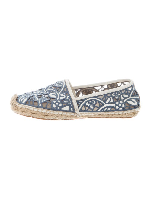 Tory Burch Lace Pattern Embroidered Accent Espadri