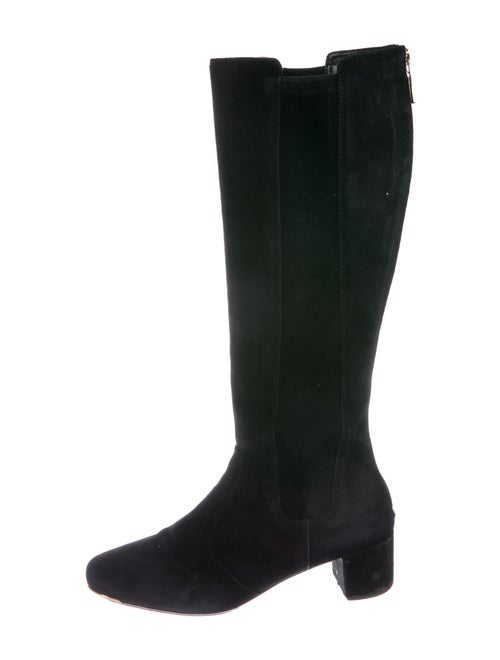 Tory Burch Suede Riding Boots Black