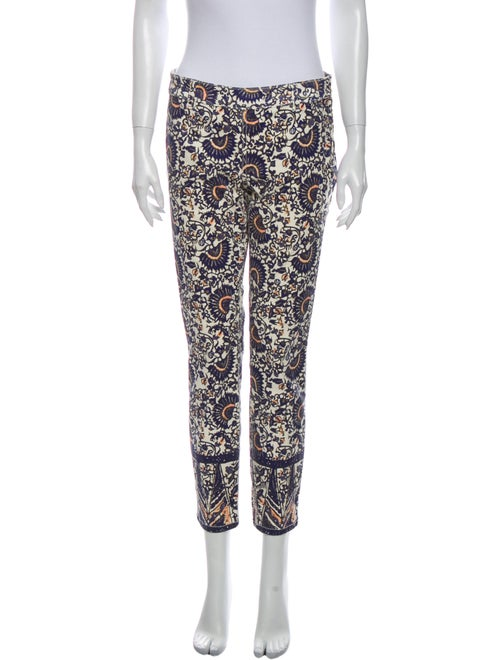 Tory Burch Printed Straight Leg Pants